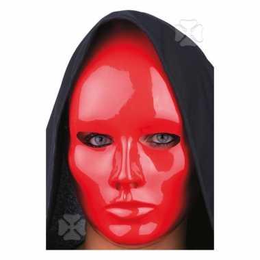Rood mensen gezicht masker