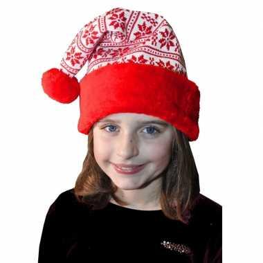 Rood met witte kerstmuts voor kinderen