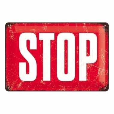 Rood muurbordje stopbord