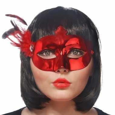 Rood mysterieus oogmasker voor dames
