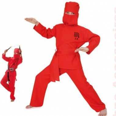 Rood ninja kinder kostuum