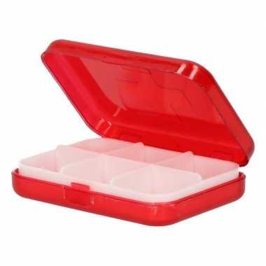 Rood pillendoosje zakmodel 9,3 cm