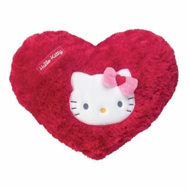 Rood pluche hello kitty kussentje
