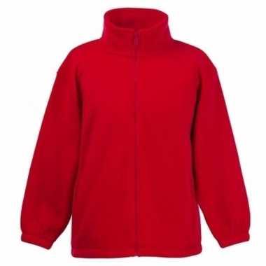 Rood polyester fleece vest met rits voor meisjes