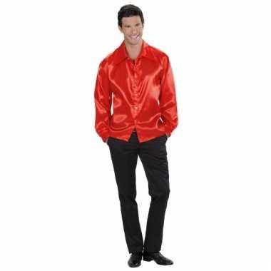 Heren Overhemd Rood.Rood Satijnen Overhemd Voor Heren Thomopdelaanwebwinkel Nl