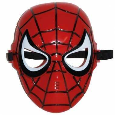 Rood spinnen held masker