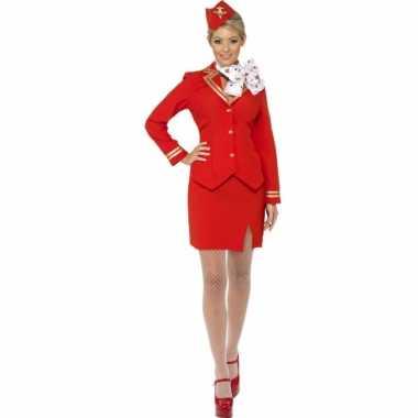 Rood stewardess pakje dames