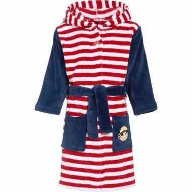 Rood/wit gestreepte badjas voor kinderen