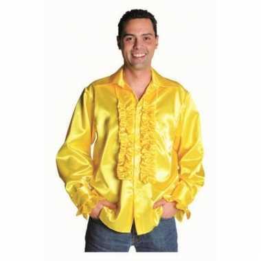 Rouches overhemd geel voor heren