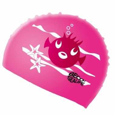 Roze badmuts voor kinderen