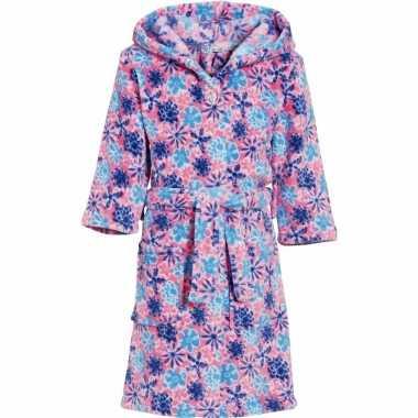 Roze bloemen badjas voor kinderen
