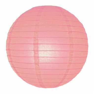 Roze bol lampion 25 cm