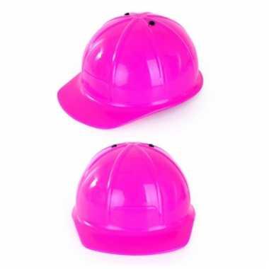 Roze bouwhelmen voor kinderen