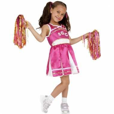 Roze cheerleader pakje voor meisjes