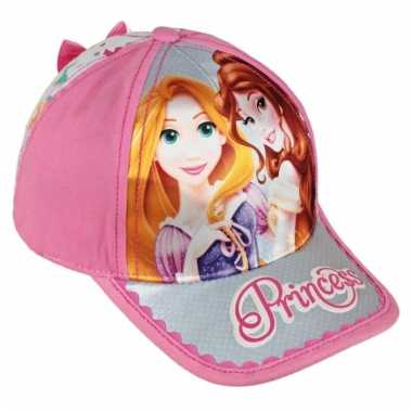 Roze disney prinsessen cap voor meisjes