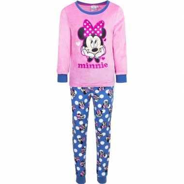 Roze disney pyjama minnie mouse met hartjes voor meisjes