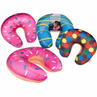 Roze donut nekkussen