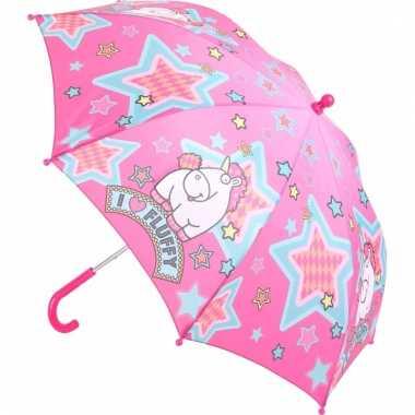 Roze eenhoorn kinder paraplu