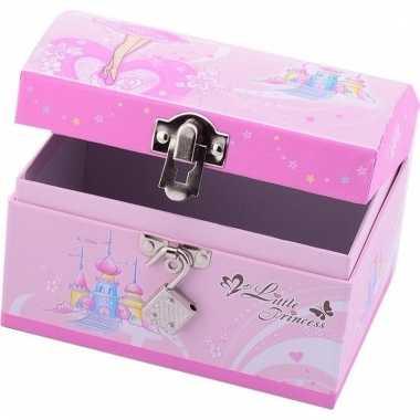Roze fee juwelendoosje met slot