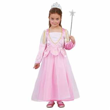Roze glitter prinsessenjurkje voor meisjes