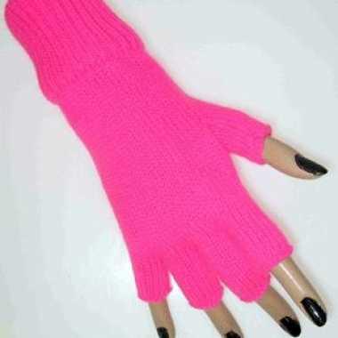 Roze handschoenen zonder vingers