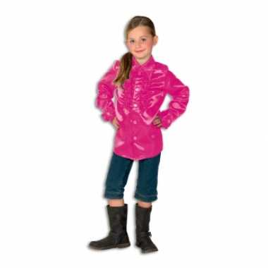 Roze hippie blouse voor meisjes