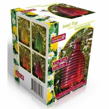 Roze insectenval/insectenvanger 13 cm van glas