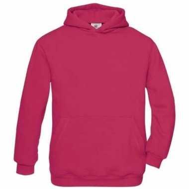 Roze katoenen vest met capuchon voor meisjes