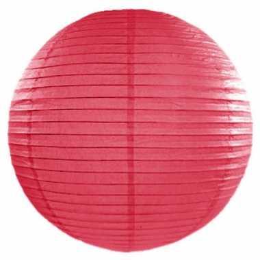 Roze lampion rond 50 cm