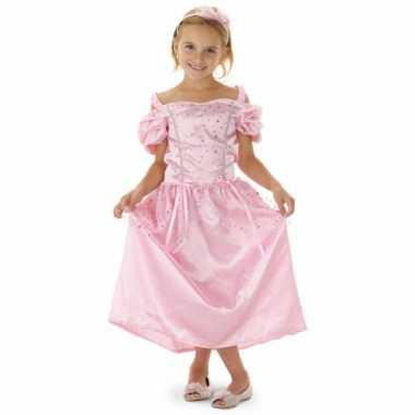 Roze lange prinsessen jurk voor meisjes