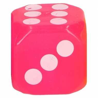 Roze ledlamp dobbelsteen