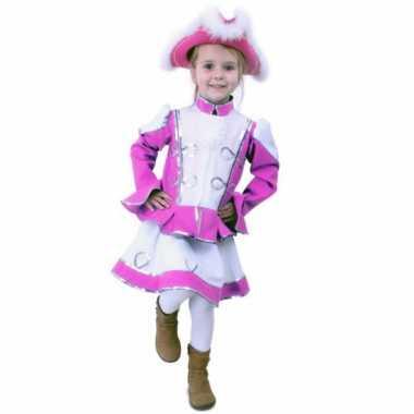 Roze majorette kostuum voor meisjes