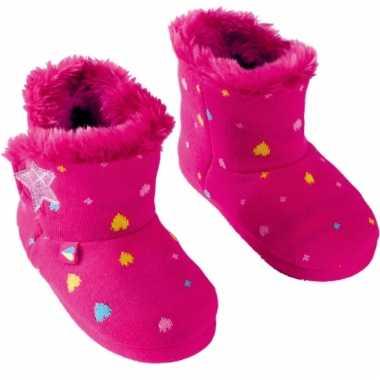 Roze meisjes pantoffels met sterren