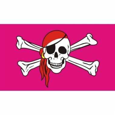 Roze piratenvlaggen