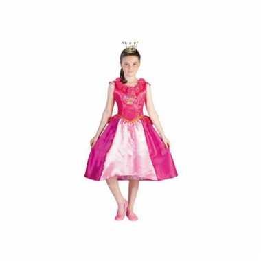 Roze prinses roos prinsessia jurk
