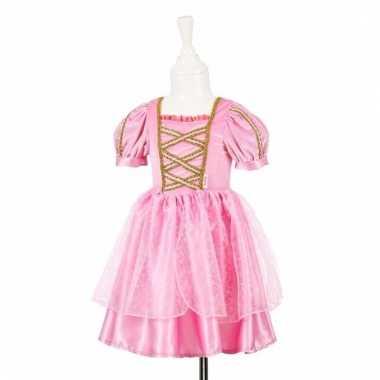 Roze prinsessenjurk met kant