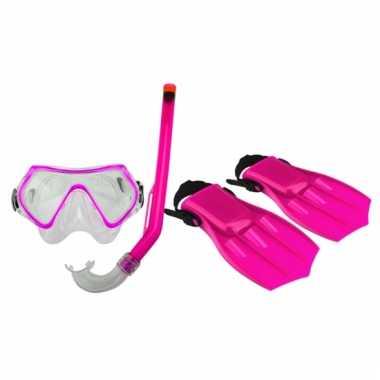 Roze snorkelset voor kinderen