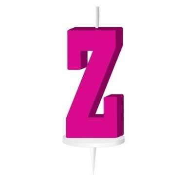 Roze taart kaarsje letter z