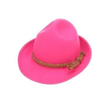 Roze tirolerhoed voor volwassenen