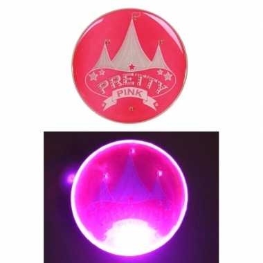 Roze toppers button met licht pretty pink