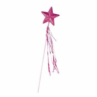 Roze toverstokje met ster