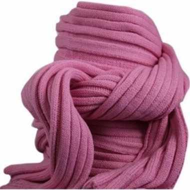 Roze winter sjaal voor volwassenen