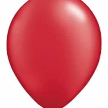 Rube rood qualatex ballonnen