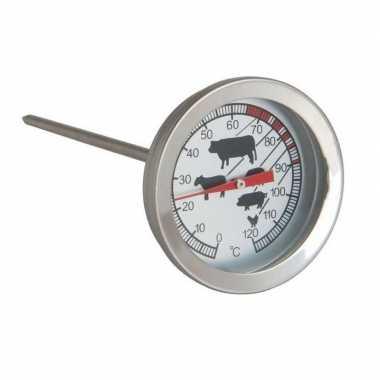 Rvs vleesthermometer analog 12 cm
