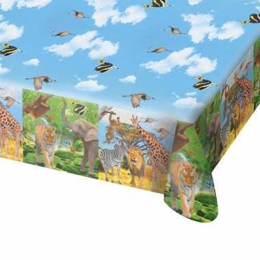 Safari/jungle thema tafelkleed 130 x 180 cm