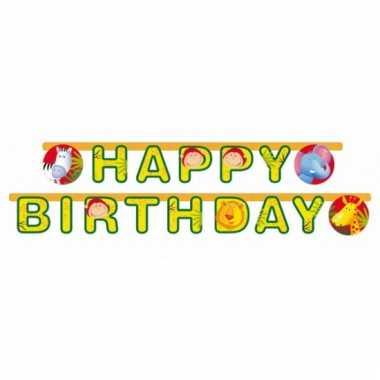 Safari thema letterslinger happy birthday