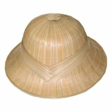 Safari tropen helm in beige