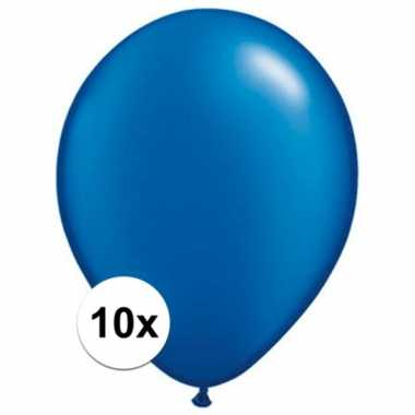 Sapphire blauwe qualatex ballonnen 10 stuks