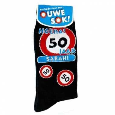 Sarah sokken 50 jaar