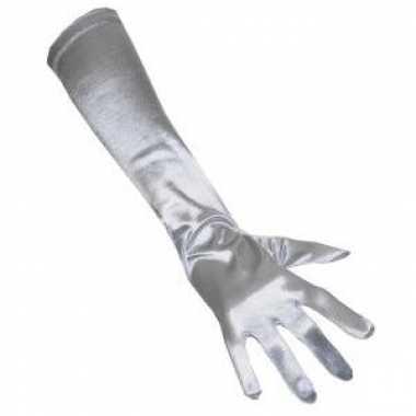 Satijnen handschoenen zilver